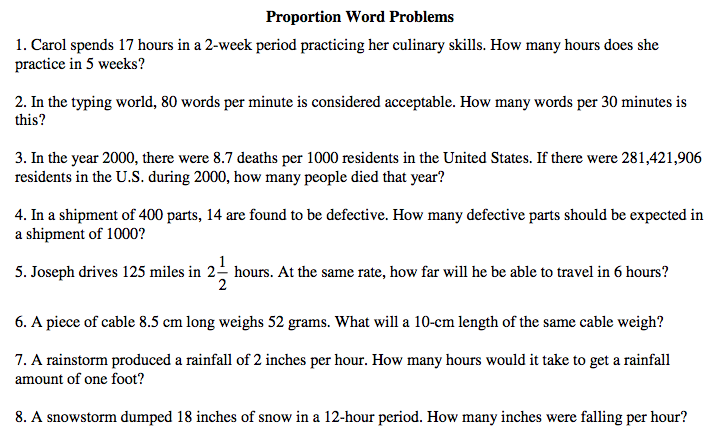 World 6 Ratios Rates and Proportional Reasoning Osky 6th – Solving Proportions Word Problems Worksheet