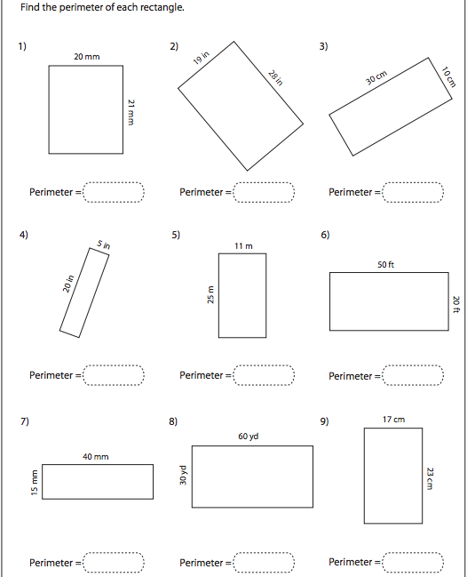 Worksheets Area Worksheets 6th Grade find the area worksheet
