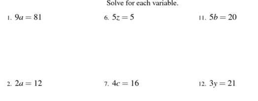 solve one step equations worksheet Termolak – Solving Addition and Subtraction Equations Worksheet