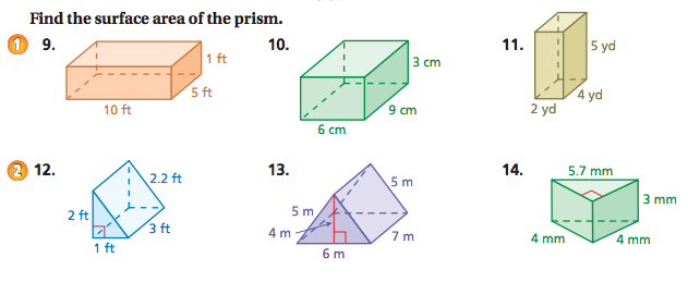 Worksheets Surface Area Triangular Prism Worksheet world 7 geometry osky 6th grade math picture