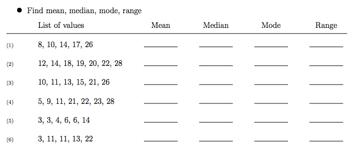 World 8 Mean Median Mode Range Osky 6th Grade Math – Mean Mode Median Worksheet