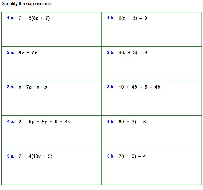 Algebraic equations worksheets for grade 6