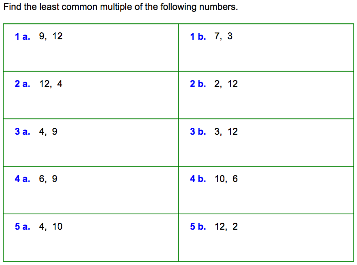 World 3 Fractions Osky 6th Grade Math – Greatest Common Factor and Least Common Multiple Worksheets