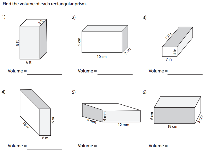 World 7 Geometry Osky 6th Grade Math – Volume of Prism Worksheet